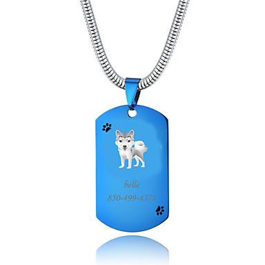 preiswerte Maßgeschneiderter Schmuck-Personalisiert Angepasst Shiba Inu Haustier-Umbauten Klassisch Geschenk Alltag 1pcs Blau Gold Silber