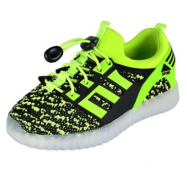preiswerte Schuhe für Kinder-Jungen Leuchtende LED-Schuhe PU Sneakers Große Kinder (ab 7 Jahren) Paillette / LED Fuchsia / Grün / Blau Herbst / Winter / Gummi