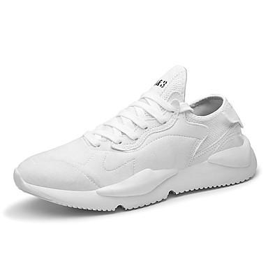 Homens Sapatos Confortáveis Couro Ecológico Verão Tênis Caminhada Branco / Cinzento / Khaki