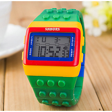 cheap Square & RectangularWatches-Women's Ladies Digital Watch Square Watch Digital Alarm Calendar / date / day Chronograph Digital Candy color Fashion Wood - Yellow Red Two Years Battery Life / LCD / Desay CR2025