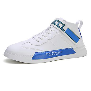 preiswerte LED Schuhe-Herrn Ochsenschuhe PU Herbst Winter Freizeit Sneakers Wasserdicht Einfarbig Weiß / Blau / Weiß / Silber / Pink