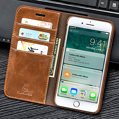 povoljno iPhone maske-Θήκη Za Apple iPhone 8 Plus / iPhone 8 / iPhone 7 Plus Novčanik / Utor za kartice / sa stalkom Korice Jednobojni PU koža