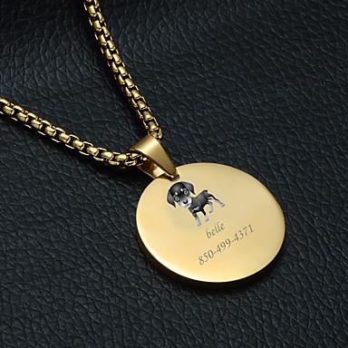 preiswerte Maßgeschneiderter Schmuck-Personalisiert Angepasst Labrador Haustier-Umbauten Klassisch Geschenk Alltag 1pcs Gold Silber