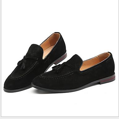 Homens Sapatos de camurça Camurça Primavera Mocassins e Slip-Ons Manter Quente Preto / Amarelo / Café / Mocassim