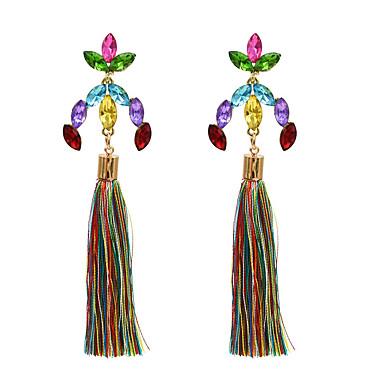 povoljno Modne naušnice-Žene Viseće naušnice Long Pakiranje Imitacija dijamanta Naušnice Jewelry Obala / Crvena / Fuksija Za Dnevno 1pc