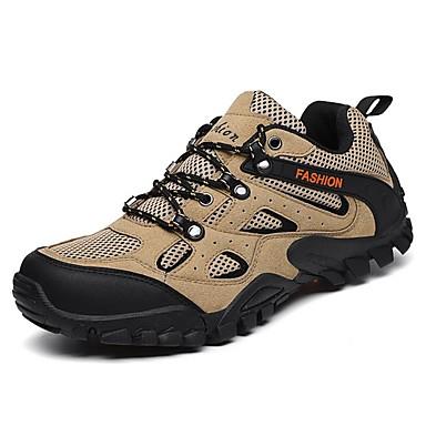 Homens Sapatos Confortáveis Couro Ecológico Primavera Tênis Preto / Verde Tropa / Khaki