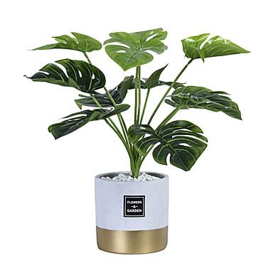Flores artificiais 1 Ramo Clássico Modern Plantas Vaso Flor de Mesa