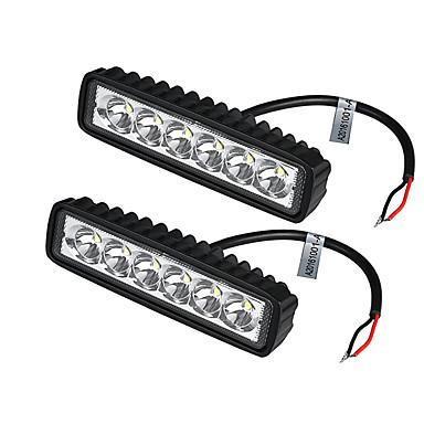 preiswerte Taglichter-2 teile / los 18 watt led arbeitslicht bar auto lkw boot fahren lampe offroad suv spot tagfahrlicht
