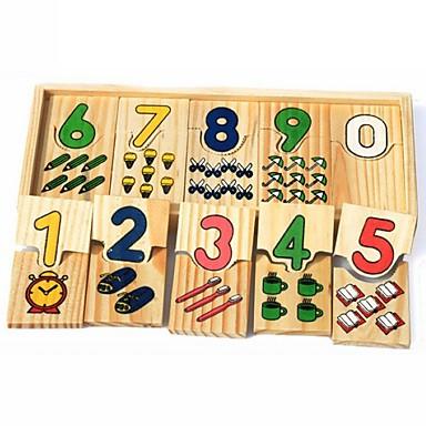 preiswerte Holzpuzzle-Holzpuzzle Shape Sorter Spielzeug Buchstabe Niedlich Handgefertigt Eltern-Kind-Interaktion Hölzern 3 pcs Kinder Baby Spielzeuge Geschenk