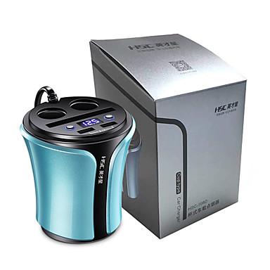 voordelige Automatisch Electronica-sigarettenaansteker dual usb autosplitter lader voor ipad iphone socket 3.1a 12-24 v usb modellenblauw