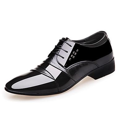 Homens Sapatos Confortáveis Couro Ecológico Outono Casual Oxfords Não escorregar Preto