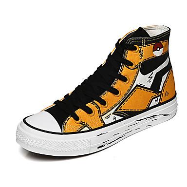 Homens Sapatos Confortáveis Lona Outono / Primavera Verão Casual Tênis Não escorregar Amarelo