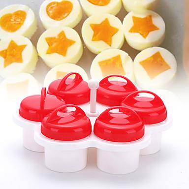 cheap Kitchen Utensils & Gadgets-6pcs Set Various Flower Shape Egg Poacher Egg Tools Non-stick Silicone Eggs Cup Kitchen Gadgets