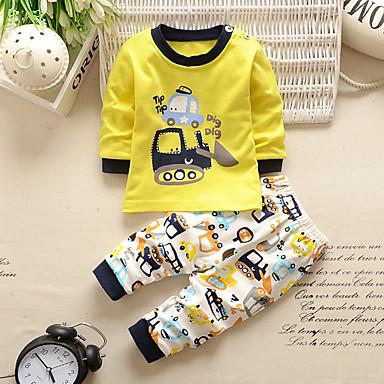 preiswerte Unterwäsche & Socken für Jungen-Kinder Jungen Grundlegend Geometrisch Schlafanzüge Rosa