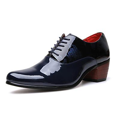 abordables Oxfords Homme-Homme Chaussures de confort Polyuréthane Automne Simple Oxfords Ne glisse pas Noir / Bleu de minuit