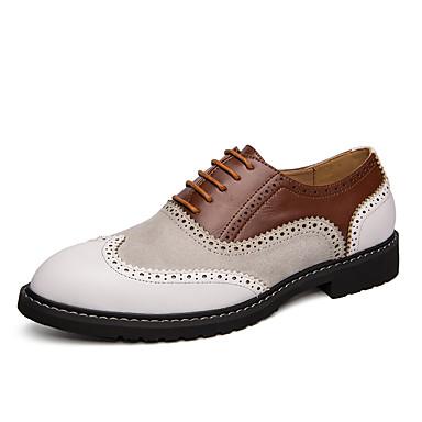 Homens Sapatos formais Couro Sintético Primavera Verão / Outono & inverno Negócio / Vintage Oxfords Respirável Preto / Branco / Amarelo