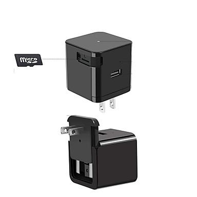 pel_03a5 1080p mini câmera cmos adaptador wifi carregador de parede com visão noturna detecção de movimento quadrado câmera de segurança em tempo real em casa ou no escritório eua plug câmera simulada