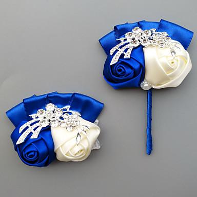 Bouquets de Noiva Buquê de Pulso Casamento / Festa de Casamento Gorgorão / Liga de alumínio e magnésio 0-10 cm