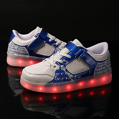 preiswerte Schuhe für Kinder-Jungen Leuchtende LED-Schuhe PU Sneakers Große Kinder (ab 7 Jahren) Paillette / LED Schwarz / Blau / Rosa Herbst / Winter / Gummi
