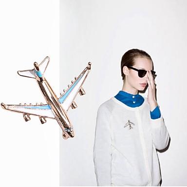 levne Dámské šperky-Pánské Dámské Brože Letadlo Jednoduchý Brož Šperky Zlatá / modrá Pro Denní
