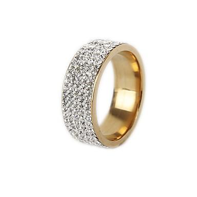 levne Pánské šperky-Pánské Dámské Band Ring Prsten Tail Ring 1ks Zlatá Stříbrná Titanová ocel Kulatý Vintage Základní Módní Dar Šperky