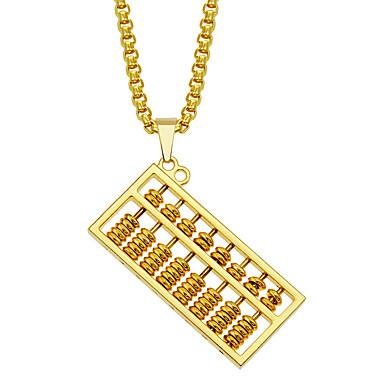 povoljno Modne ogrlice-Muškarci Ogrlice s privjeskom Ogrlica Geometrijski Sretan Vintage Punk pomodan Korejski Krom Zlato 75 cm Ogrlice Jewelry 1pc Za Dnevno