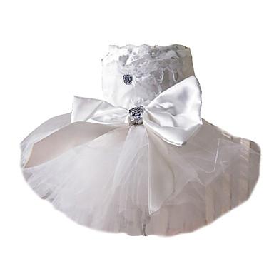 Hund Klänningar Hundkläder Kostym Pärla Cosplay Bröllop XS S M L XL