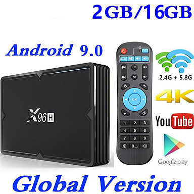 cheap TV Boxes-X96H Smart TV BOX Android 9.0 2GB 16GB Allwinner H603 wifi 1080P 4K Netflix Youtube Set Top Box