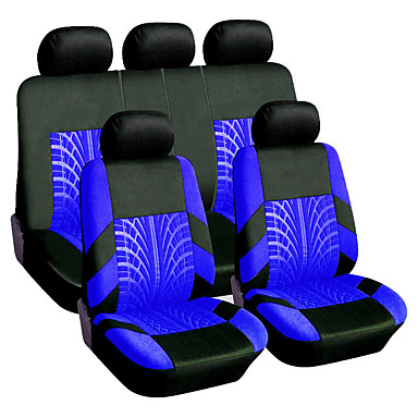 billige Hodestøtter til bilen-9stk / sett universelt pustende dekkspor stil bil sete deksel sete beskytter saken putetrekk bil styling bil sete beskytter fire sesonger bil tilbehør