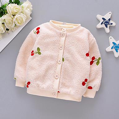 povoljno Odjeća za bebe-Dijete Djevojčice Osnovni Voće Kratak Jakna i kaput Blushing Pink