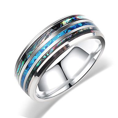 voordelige Dames Sieraden-Heren Dames Bandring Ring 1pc Zilver Roestvast staal puoliympyrä Bohémien Zoet leuke Style Club Sieraden