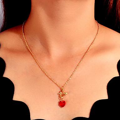 levne Dámské šperky-Dámské Náhrdelníky s přívěšky Klasika láska Arrow umělecké Základní Moderní Casual / Sportovní Chrome Zlatá 54.5 cm Náhrdelníky Šperky 1ks Pro Halloween Promoce Dar Karneval Škola