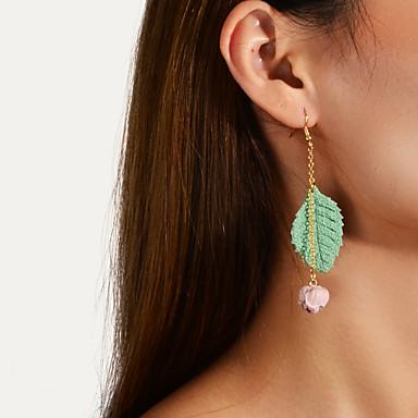voordelige Dames Sieraden-Dames Druppel oorbellen Zin in hebben Bloem Stijlvol Modieus leuke Style oorbellen Sieraden Groen Voor Dagelijks 1 paar