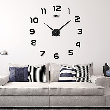 "cheap Wall Clocks-Wall Clock,Fashion DIY Acrylic Round Indoor 100*100cm (39""*39"")"