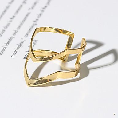 levne Dámské šperky-Dámské Prsten Otevřete kruh 1ks Zlatá Slitina V Tvaru Jednoduchý Vintage Moderní Denní Šperky Retro styl Arrow