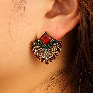 povoljno Modne naušnice-Žene Naušnica Geometrijski Radost Naušnice Jewelry Tamno crvena Za Dnevno 2pcs