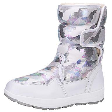 preiswerte Schuhe für Kinder-Jungen / Mädchen Schneestiefel Polyester / Mikrofaser Stiefel Große Kinder (ab 7 Jahren) Blau / Rosa / Leopard Winter / Gummi