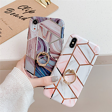 cheap iPhone Cases-Case For Apple iPhone 11 / iPhone 11 Pro / iPhone 11 Pro Max Ring Holder / Pattern Back Cover Geometric Pattern / Marble TPU