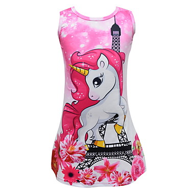 cheap Kids Collection Under $8.99-Kids Girls' Cute Cartoon Dress Blushing Pink