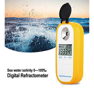 voordelige Test-, meet- & inspectieapparatuur-dr202 digitale zeewater refractometer zeewater zoutgehalte meter soortelijk gewicht bereik 0100 chloorgehalte 057 refractometer