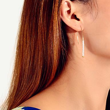 levne Dámské šperky-Dámské Náušnice Klasika Vertikálně Taurus stylové umělecké Sladký Moderní Cute Style Napodobenina perel Náušnice Šperky Zlatá Pro Svatební Párty Promoce Denní Maturitní ples 1 Pair
