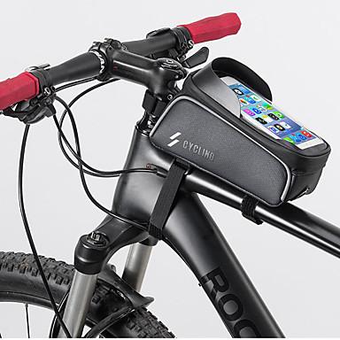 preiswerte Radtaschen-Handy-Tasche 6 Zoll Touchscreen Radsport für Radsport Schwarz Rennrad Radsport / Fahhrad Freizeit-Radfahren