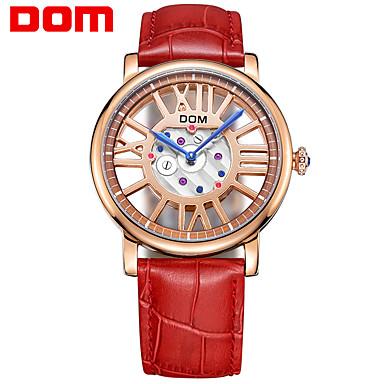 levne Pánské-Dámské Sportovní hodinky Módní Červená Pravá kůže japonština Japonské Quartz Rubínově červená Kompas 30 m 1 sada Analog - Digitál Dva roky Životnost baterie
