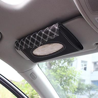 voordelige Auto-organizers-lederen auto zonneklep automatische pompen weefsel doos cassette accessoires creatieve stand afneembare servethouder organizer voor auto