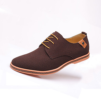 cheap Men's Oxfords-Men's Oxfords Suede Shoes Comfort Shoes Casual Party & Evening Office & Career Suede Wear Proof Camel / Black / Blue Color Block Fall