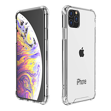 povoljno iPhone maske-Θήκη Za Apple iPhone 11 / iPhone 11 Pro / iPhone 11 Pro Max Otporno na trešnju / Protiv prašine Stražnja maska Prozirno TPU