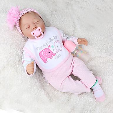 cheap Reborn Doll-NPKCOLLECTION 22 inch Reborn Doll Baby & Toddler Toy Reborn Toddler Doll Baby Boy Baby Girl Gift Cute Lovely Parent-Child Interaction Tipped and Sealed Nails Cloth 3/4 Silicone Limbs and Cotton