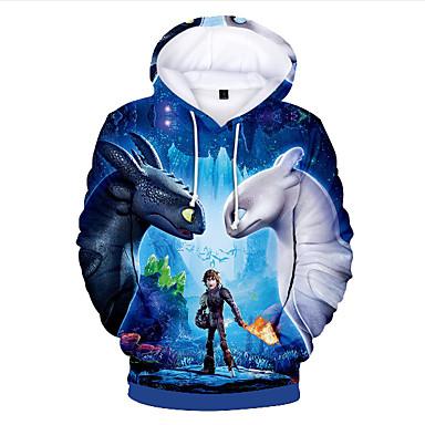 povoljno Odjeća za dječake-Djeca Dijete koje je tek prohodalo Dječaci Osnovni Print Print Dugih rukava Trenirka s kapuljačom Plava