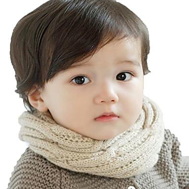 preiswerte Kinder Schals-Kinder / Baby Jungen / Mädchen Aktiv / Grundlegend / Süß Solide Stilvoll / Gestrickt Baumwolle / Roma Strickmuster Schals Rosa / Gelb / Rote Einheitsgröße