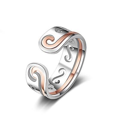 voordelige Herensieraden-Heren Dames Ring 1pc Geel Goud Rose Koper Cirkelvormig Standaard Koreaans Modieus Lahja Feestdagen Sieraden